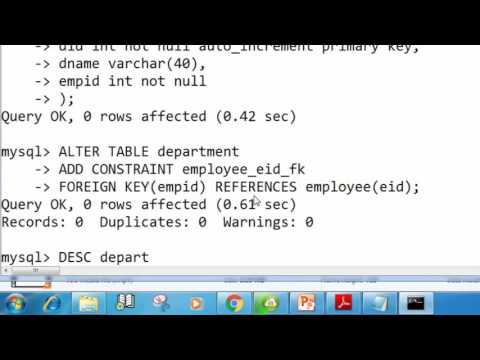 109. Add Foreign Key Constraint in a Table SQL (Hindi)