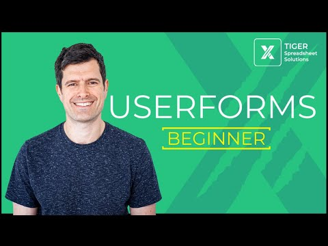 Excel Userforms for Beginners (2/10) – Use Excel VBA to Create A Userform and Manage a Database