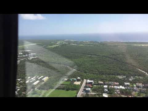 Helicopter flight over Punta Cana Airport