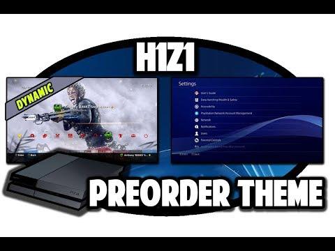 [PS4 THEMES] H1Z1 Dynamic Preorder Theme Preview