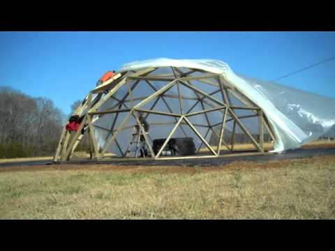 BUILDING A WOODEN GEODESIC DOME - THE COVER