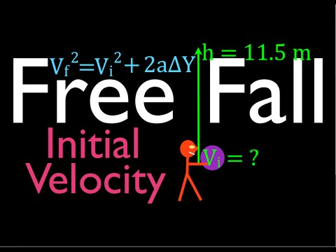 Physics, Kinematics, Free Fall (8 of 12) Initial Velocity Needed to Reach Known Height