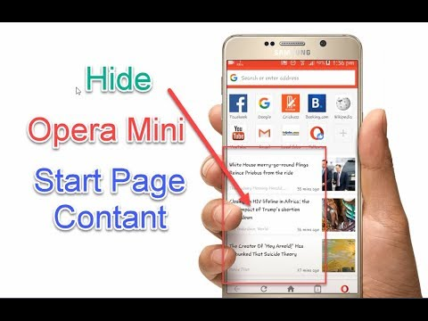 How To Hide Opera Mini Start Page Contant || Android Cast
