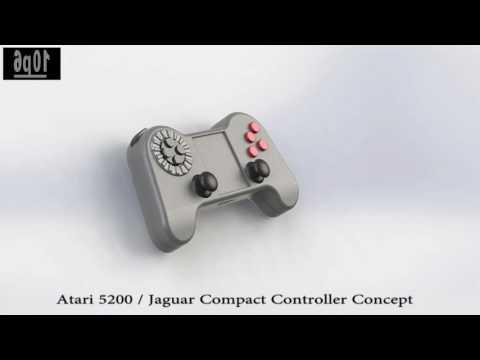 Atari 5200 / Jaguar Compact Controller Concept.