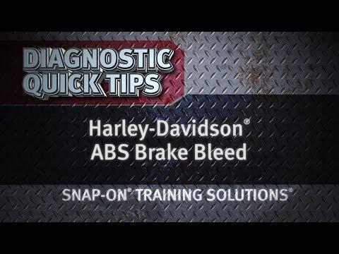 Diagnostic Quick Tips - Harley-Davidson® ABS Brake Bleed