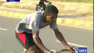 Cycle race in Karachi