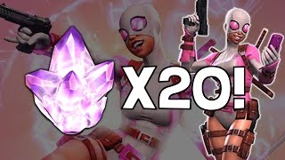 Opening 20x Gwenpool Crystals - Marvel Contest Of Champions Crystal Opening