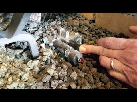 How to light a pilot on an open gas log set. Golden blount
