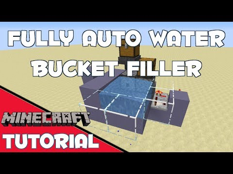 Automatic Water Bucket Filler - Minecraft Tutorial