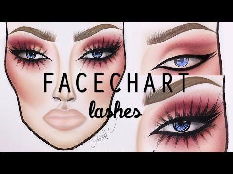 Facechart Lash Tutorial | cassieeMUA