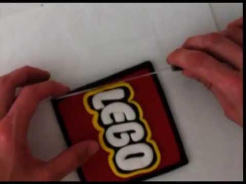 how to make fondant LEGO logo cake decorating tutorial how to cook that ann reardon