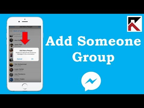 How To Add Someone In A Facebook Messenger Group Conversation iPhone