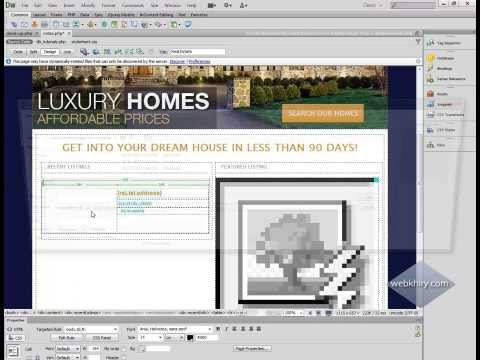 Part 1: How to EASILY Display Dynamic Images on Web Pages Dreamweaver CS6