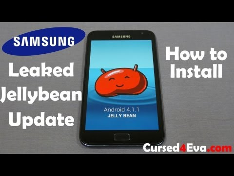 Samsung Galaxy Note - Jelly Bean Update (Leak) - How to Flash/Install - Cursed4Eva.com
