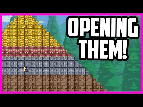 Opening 10 Hours Worth of Fishing Crates In Terraria