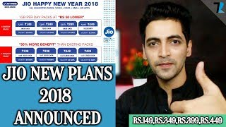 Jio New Tariff Plans 2018 - Rs.50 Discount & 50% More Benefits!!!