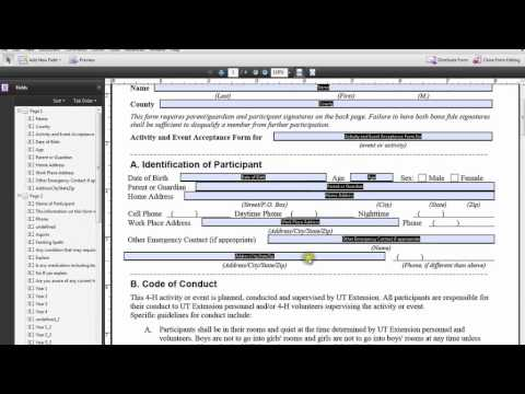 Creating Interactive PDF in Adobe