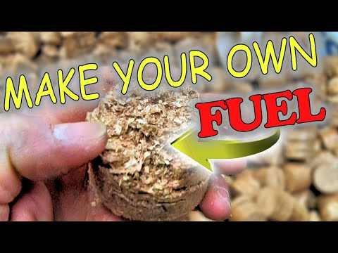 how to make wood chips into wood blocks for burning