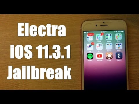 How to Jailbreak iOS 11.3.1–iOS 11.2 Using Electra Tool