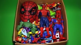 Box of Toys: Marvel Mashers, Cars, Spiderman Action Figures and More