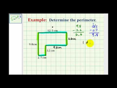 Example: Using Decimals To Determine the Perimeter of an L-shaped Polygon