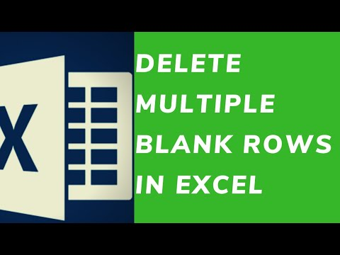 How to Delete Multiple Blank Rows in Excel for SEO