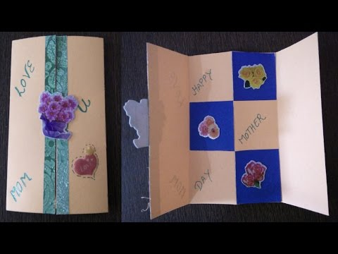 Mother's Day Greeting Card with Secret Door | Mother's Day Card Tutorial |