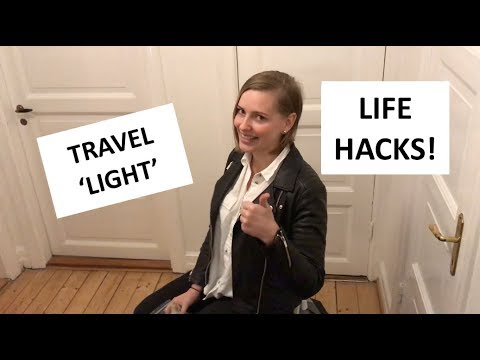 HOW TO travel light & sneak in things in to the plane