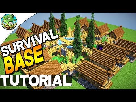 Minecraft: 16 PLAYER SURVIVAL BASE!!