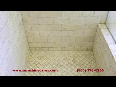 Tumbled Travertine Shower Cleaning Newport Beach