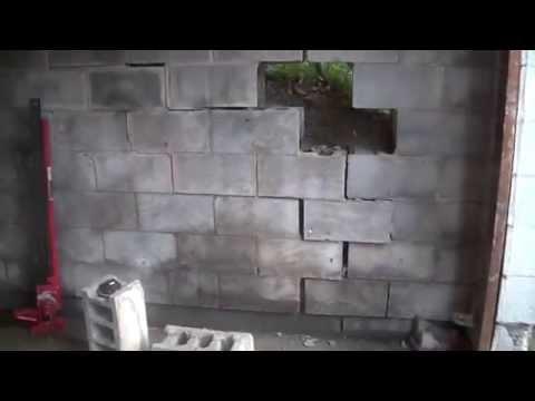 8_2_15,  Block Wall repair, Day 1, making a plan,