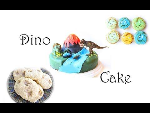 Dino Party Rezepte: Vulkan Kuchen, Dinosaurier Muffins und Fossilien Kekse selber backen