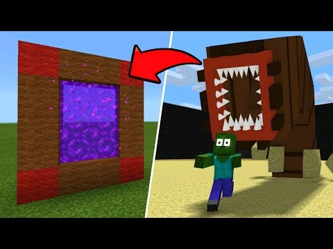 Minecraft Pe How To Make A Portal To The Death Worm Dimension - Mcpe Portal To The Death Worm!!!