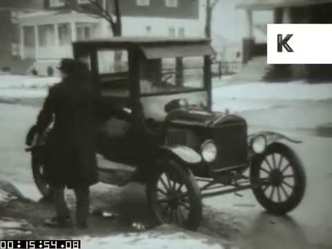 1920s Driving Around in Ford Car | Kinolibrary