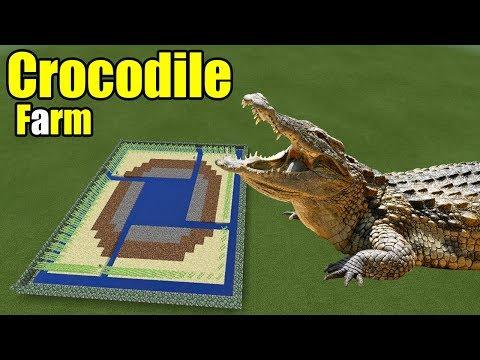 How to Make a Crocodile Farm   Minecraft PE