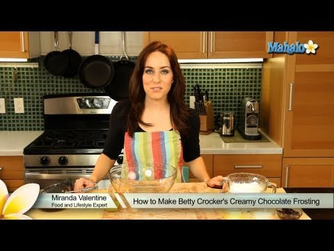 How to Make Betty Crocker's Creamy Chocolate Frosting