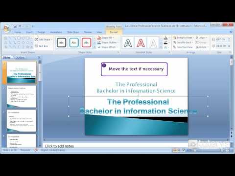 How to use WordArt tool on a title with PowerPoint 2007?