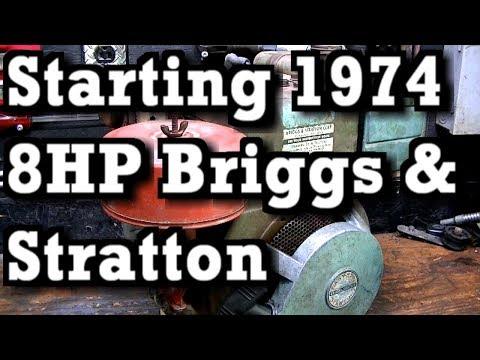 Start & Run 1974 8HP Briggs and Stratton Tiller Engine