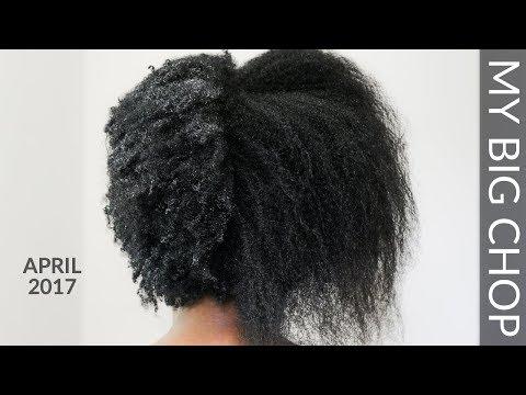 MY BIG CHOP (April 2017) (Relaxed Hair to Natural Hair)