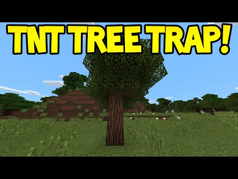 Minecraft Pocket Edition - 0.13.0 Easy TNT Tree Trap - Tutorial