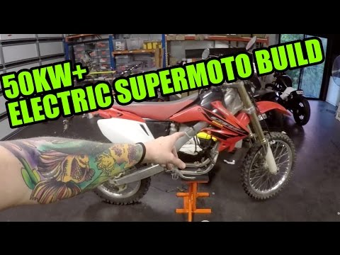 50KW ELECTRIC SUPERMOTO BUILD [EP 1]  GETTING STARTED!