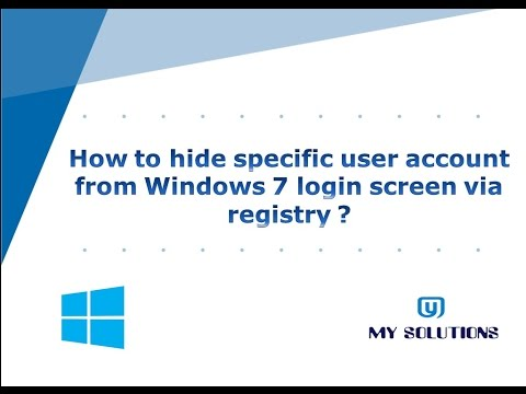 How to hide specific user account from Windows 7 login screen via registry ?