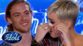INSPIRATIONAL! American Idol Judge KATY PERRY CRIES During David Francesco