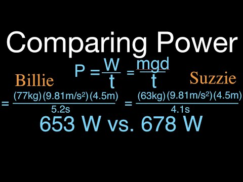 Physics, Power, Compare the Power Output of Two People