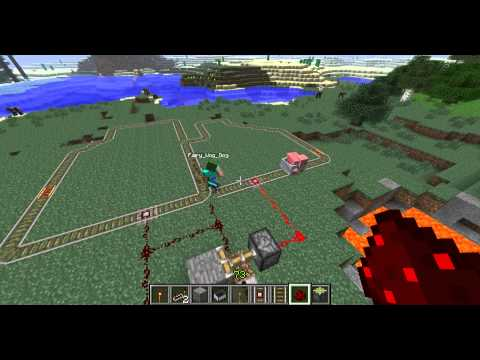 Minecraft Railroad Automatic Track Switching