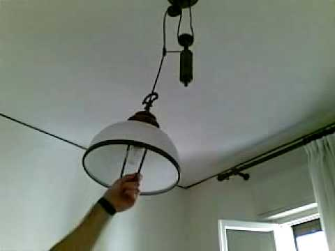 cool pulley lamp in the kitchen