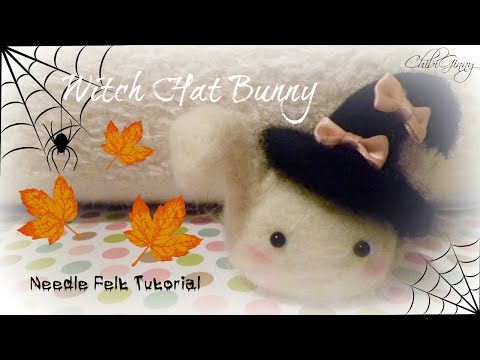Felting Needle Tutorial: Witch Hat Bunny