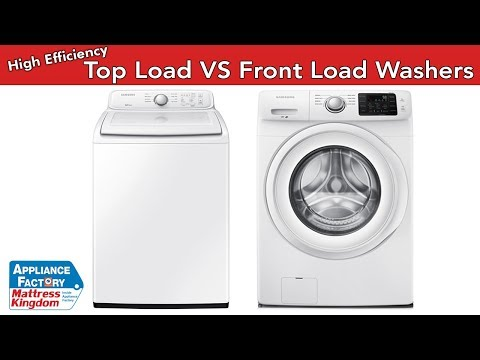 High Efficiency Top Load Washers vs Front load washers