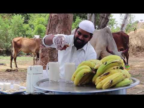 Delicious Banana Milkshake ||Oldage Home|| Nawabs kitchen