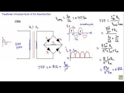 Transformer Utilization Factor - Half & Full Wave Bridge Rectifier